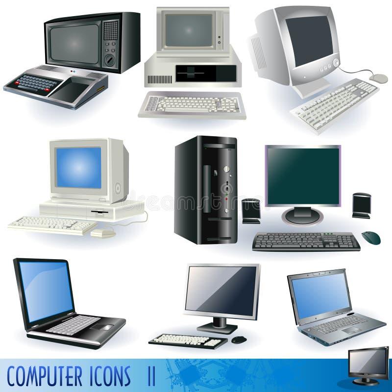 Iconos 2 del ordenador ilustración del vector