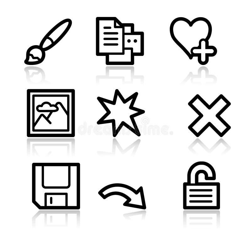 Iconos 2 del Web del espectador de la imagen libre illustration
