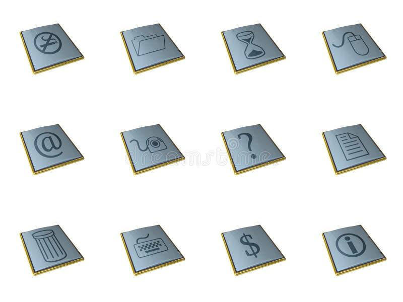 iconos 3d stock de ilustración