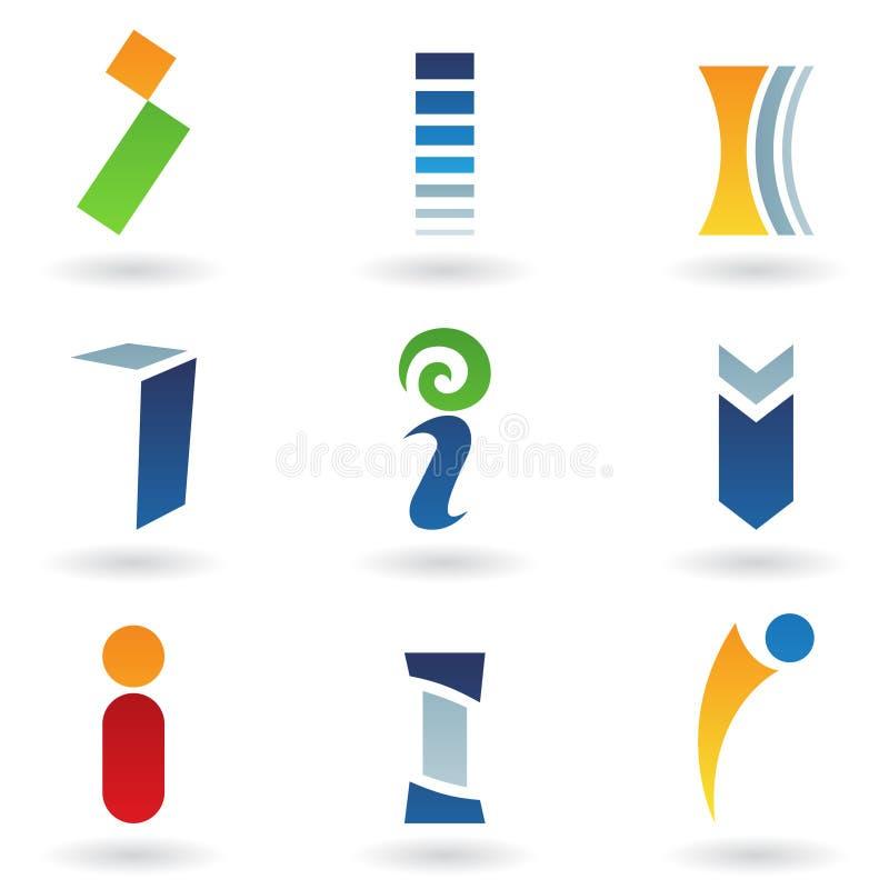 Iconos abstractos para la carta I ilustración del vector