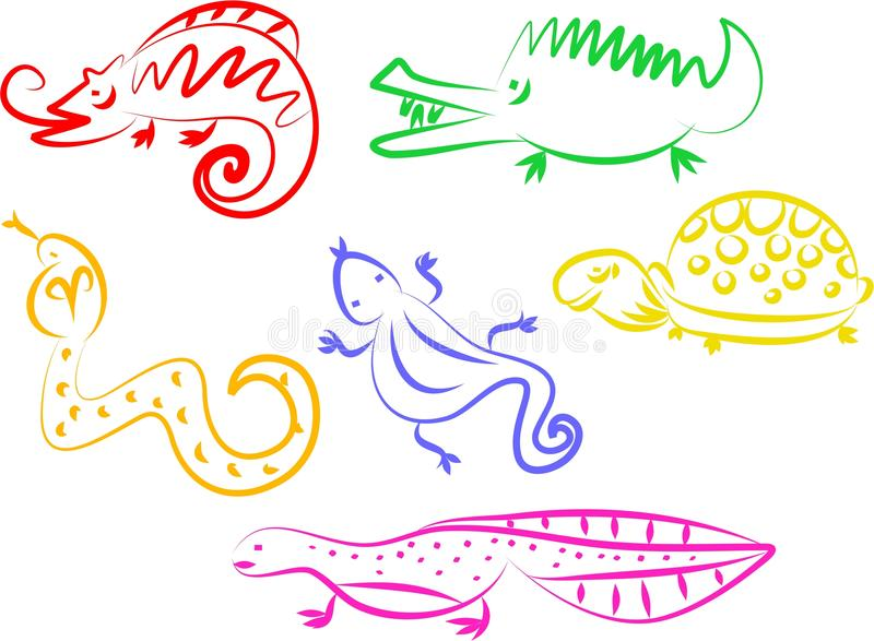 Iconos animales ilustración del vector