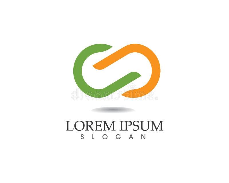 Iconos app de la plantilla del logotipo y del símbolo del infinito ilustración del vector
