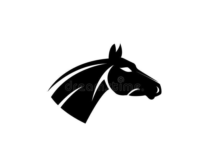 Iconos app de Logo Template Vector de la cabeza de caballo stock de ilustración