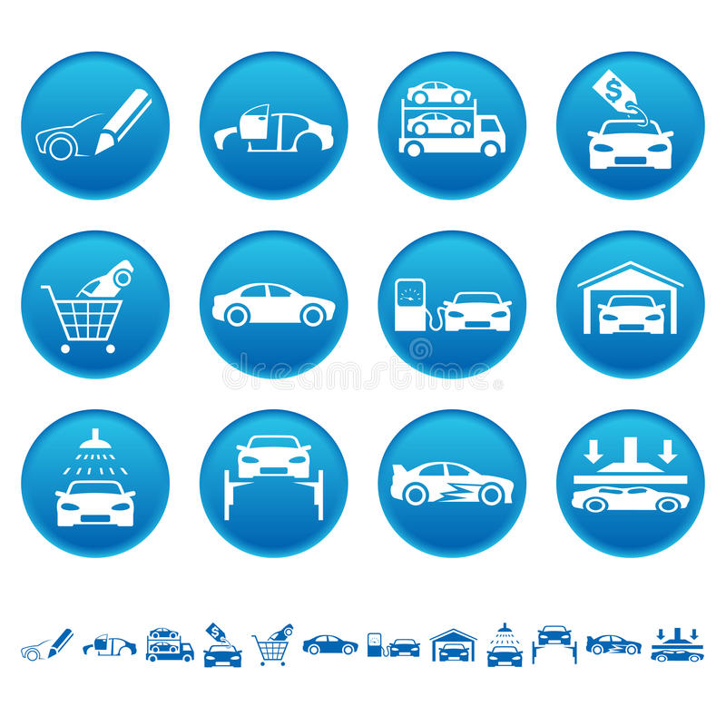 Iconos automotores libre illustration