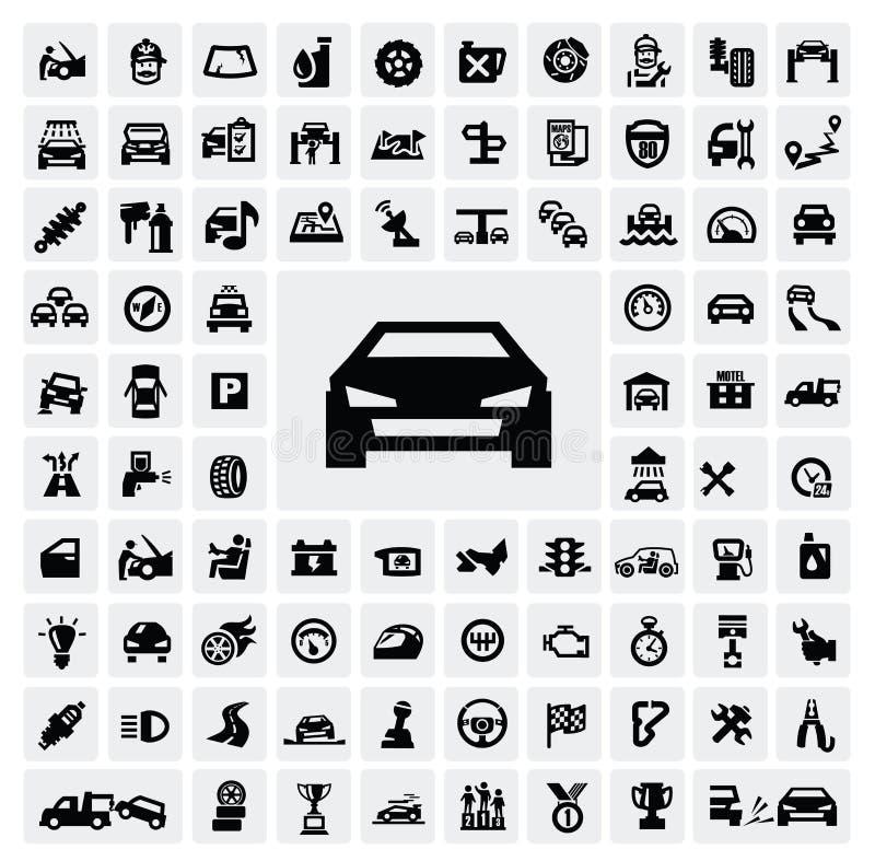 Iconos autos stock de ilustración