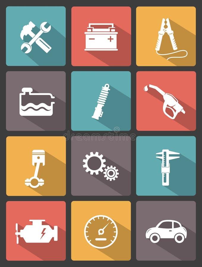 Iconos autos del servicio libre illustration
