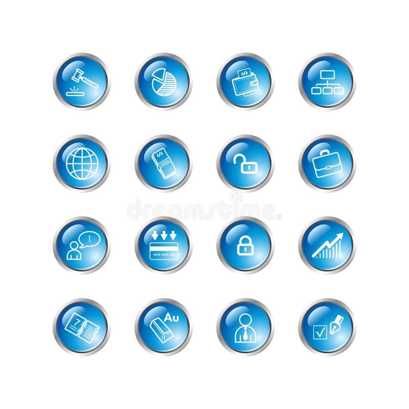 Iconos azules del asunto de la gota stock de ilustración