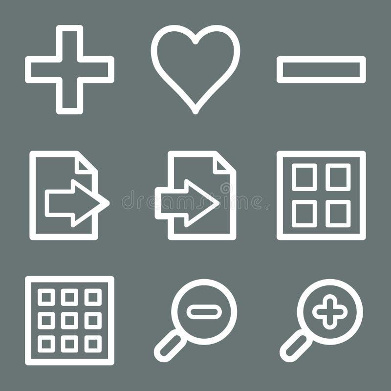 Iconos blancos del Web del espectador de la imagen libre illustration