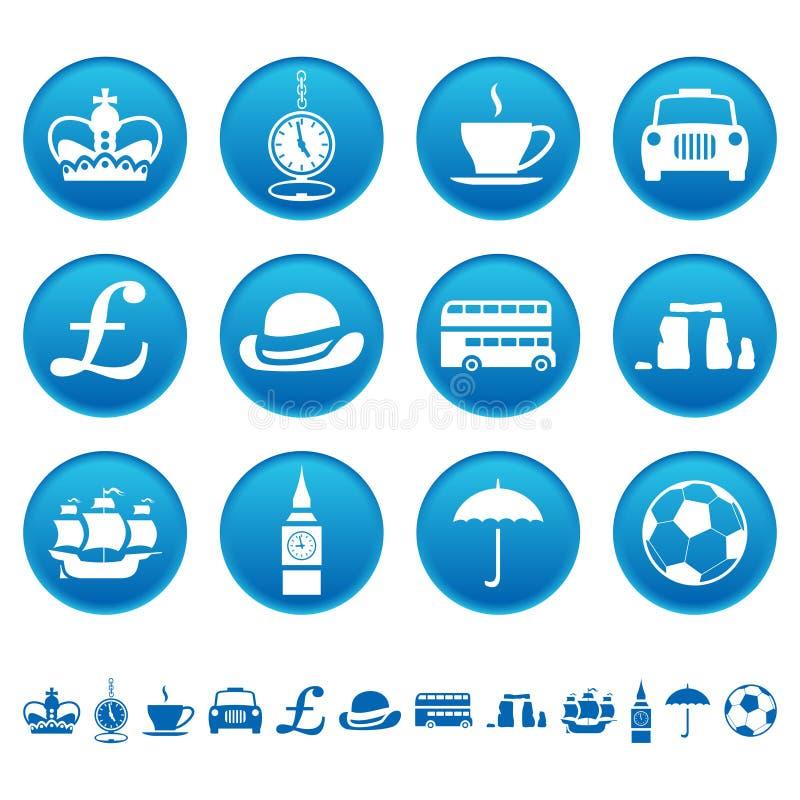 Iconos BRITÁNICOS libre illustration