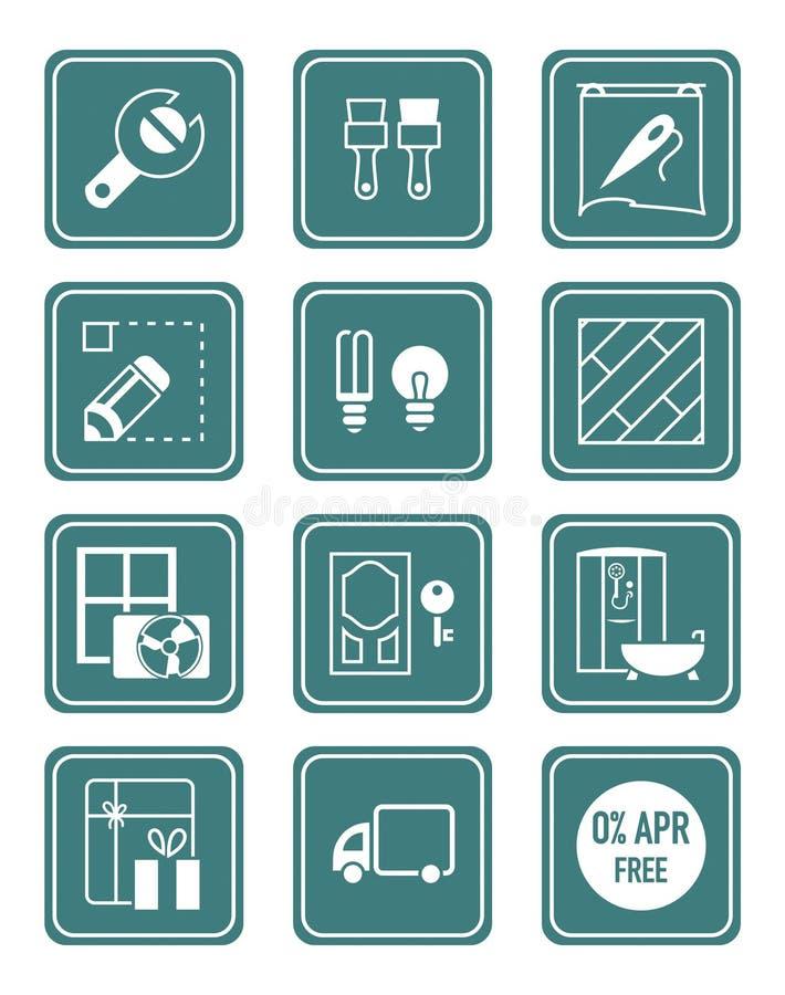 Iconos caseros de la reparación | Serie del TRULLO libre illustration