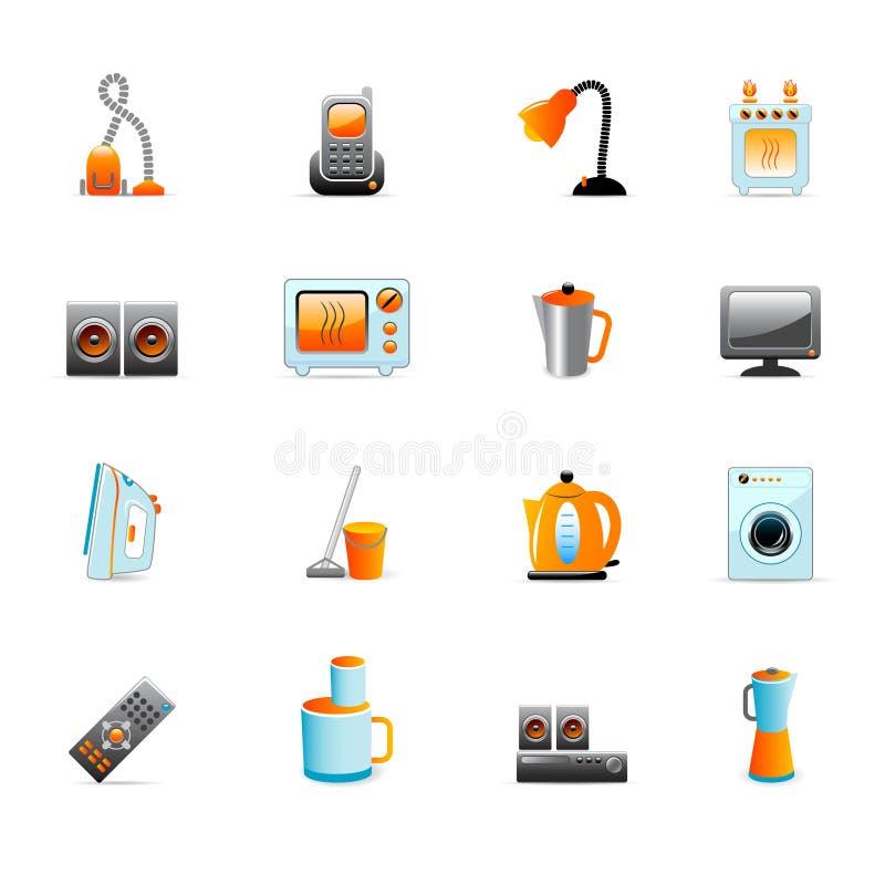 Download Iconos caseros del equipo ilustración del vector. Imagen de técnica - 8690593