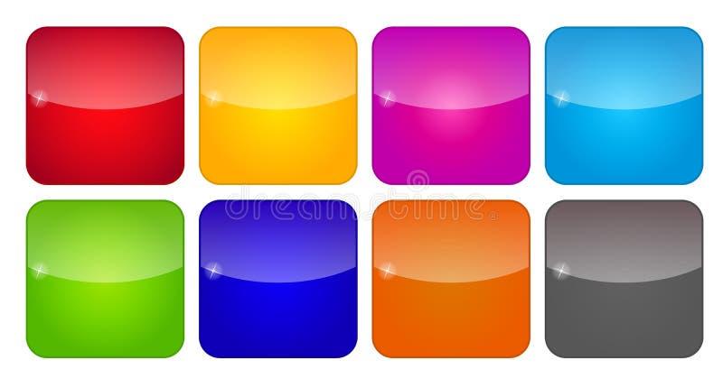 Iconos coloreados del uso para los teléfonos móviles y stock de ilustración