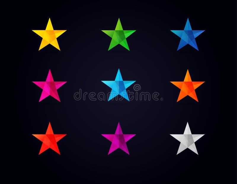 Iconos coloreados forma de las estrellas libre illustration