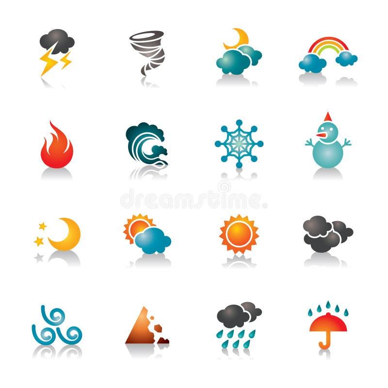 Iconos coloridos del tiempo libre illustration