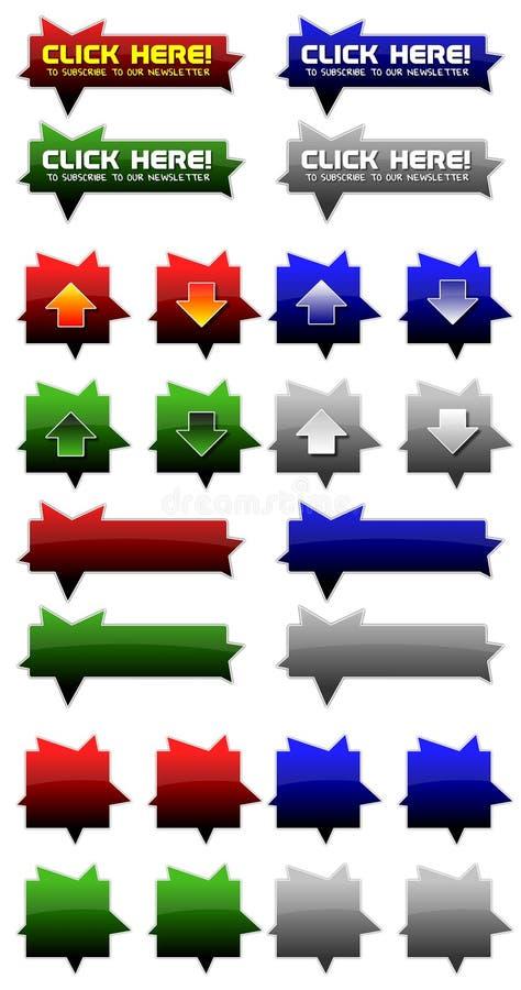 Iconos coloridos del Web imagen de archivo libre de regalías