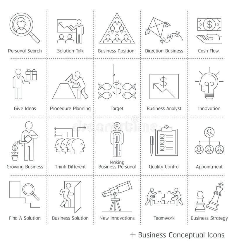 Iconos conceptuales de la gestión de negocio libre illustration