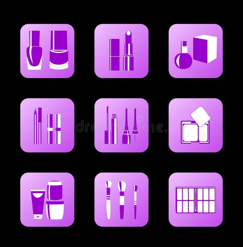 Iconos cosméticos para el diseño del Internet libre illustration