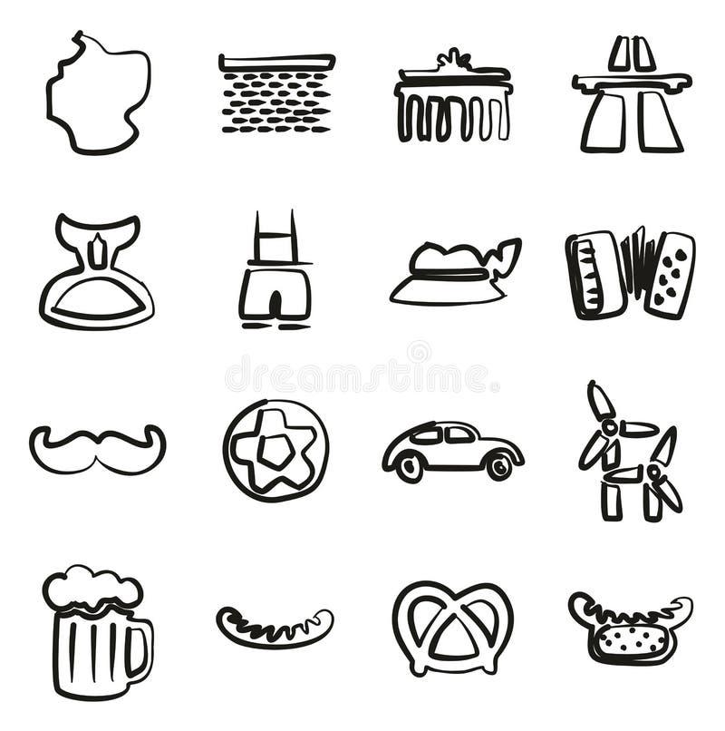 Iconos de Alemania a pulso libre illustration