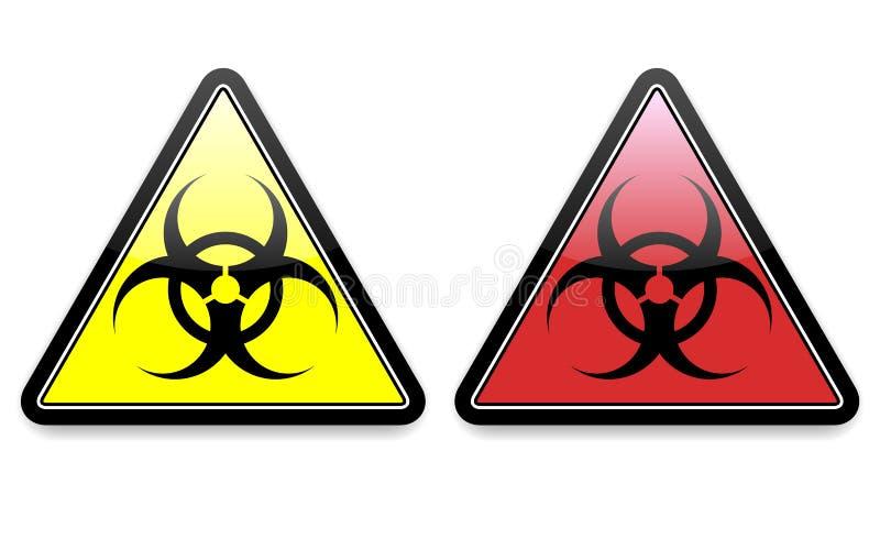 Iconos de Biohazard stock de ilustración