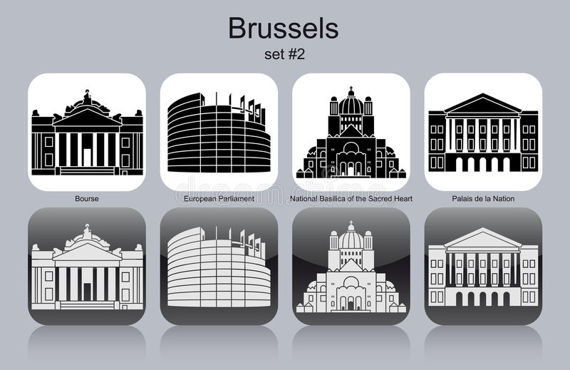 Iconos de Bruselas libre illustration