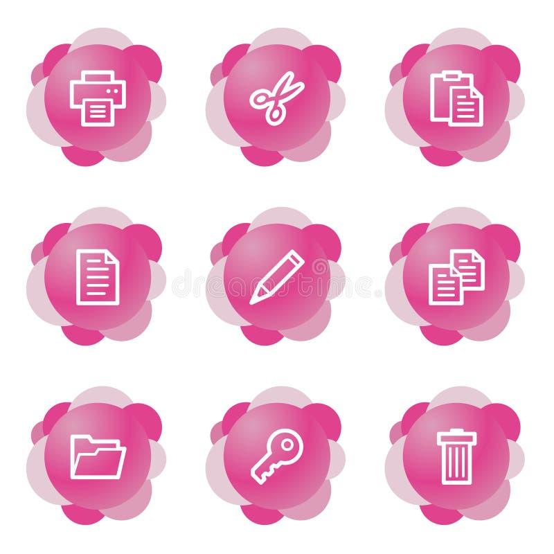 Iconos de documento, serie rosada libre illustration