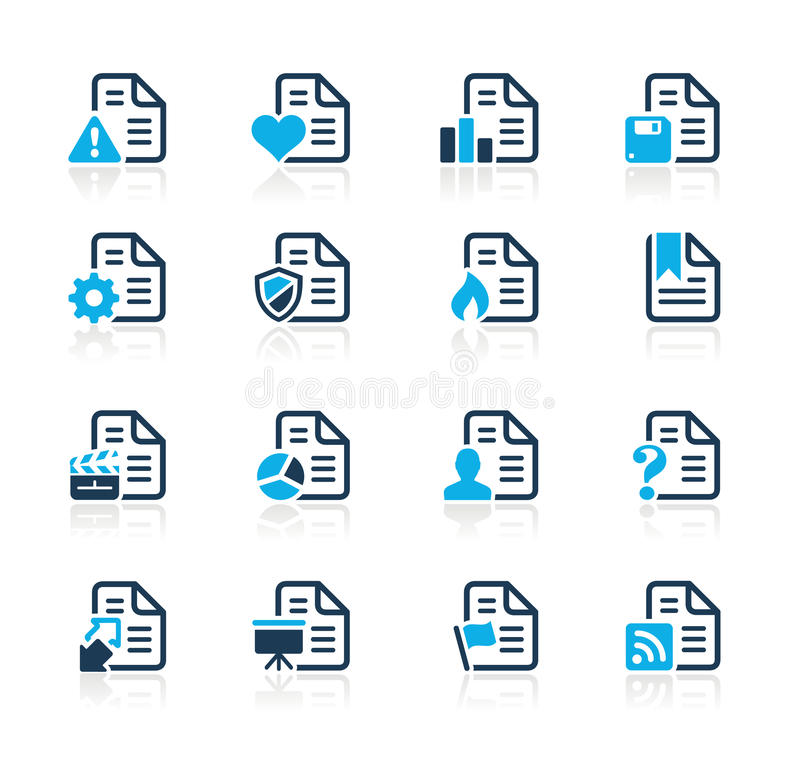 Iconos de documentos - 2 series del azul de // libre illustration