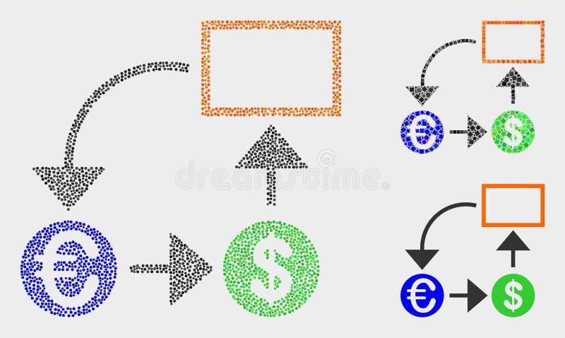 Iconos de Dot Vector Currency Conversion Scheme libre illustration