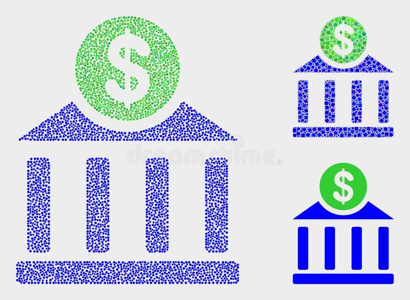 Iconos de Dot Vector Dollar Bank Office ilustración del vector