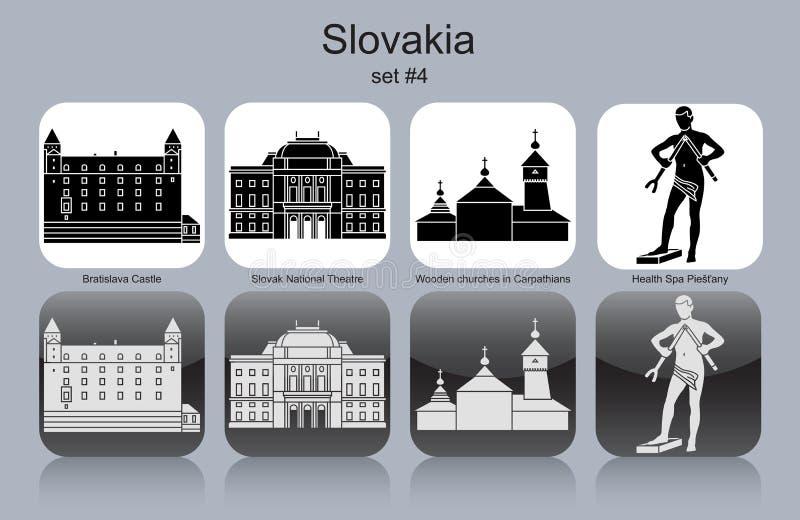 Iconos de Eslovaquia stock de ilustración