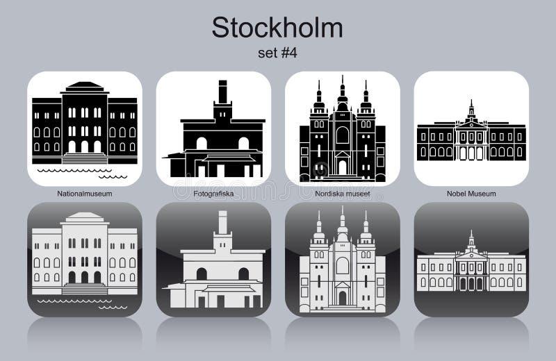 Iconos de Estocolmo libre illustration
