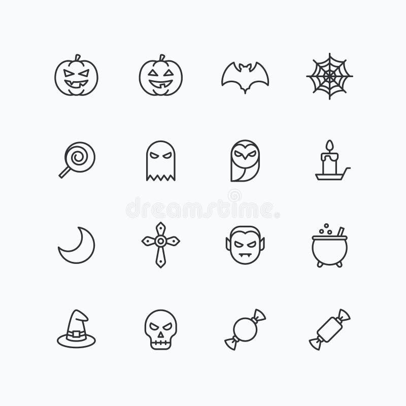Iconos de Halloween para el web y el móvil ilustración del vector