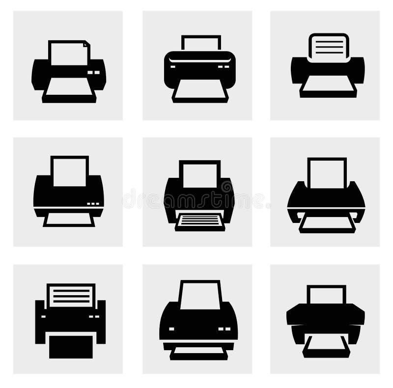 Iconos de impresora libre illustration