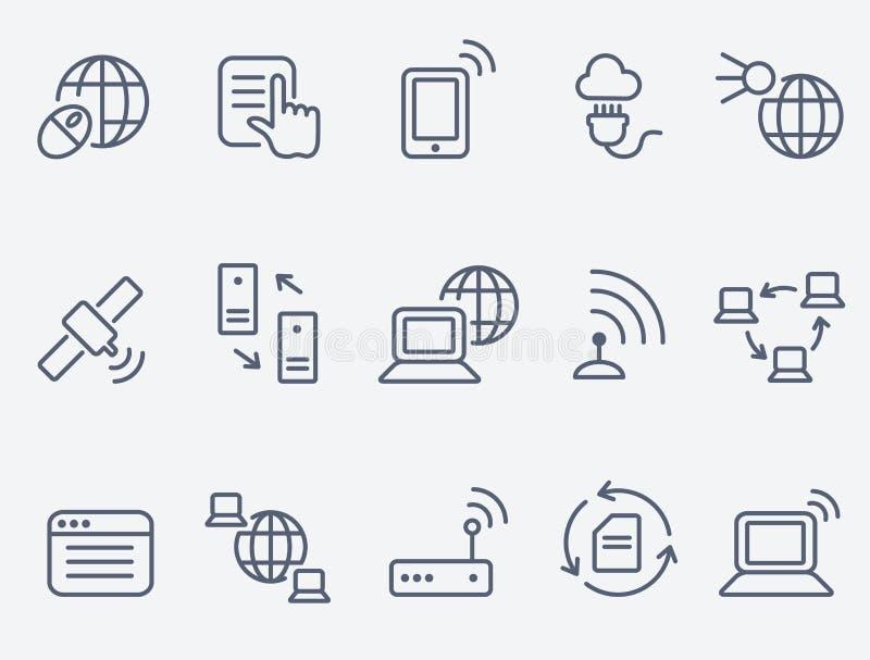 Iconos de Internet ilustración del vector
