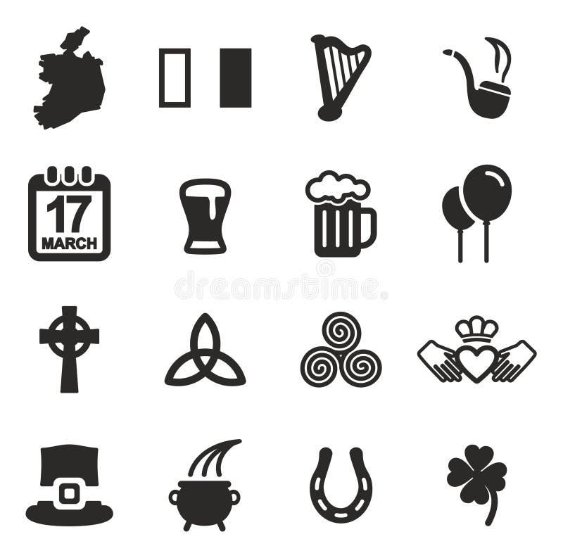 Iconos de Irlanda stock de ilustración