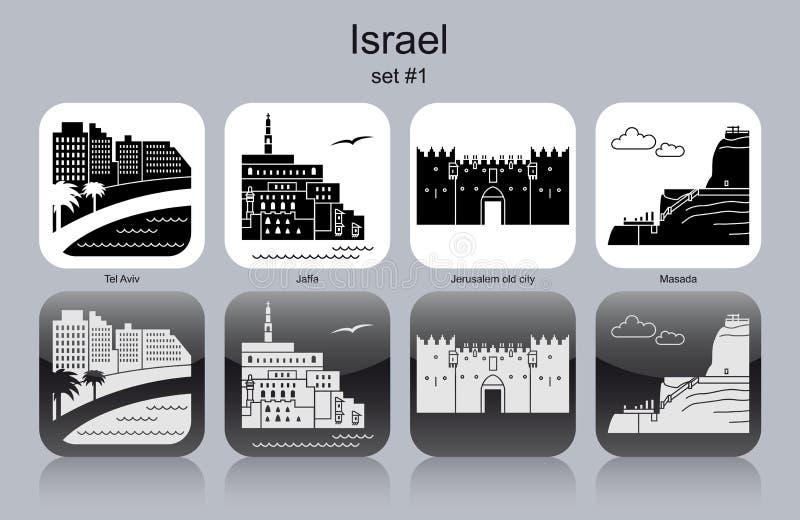 Iconos de Israel ilustración del vector