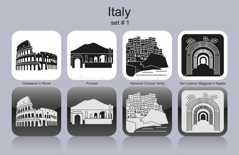 Iconos de Italia libre illustration