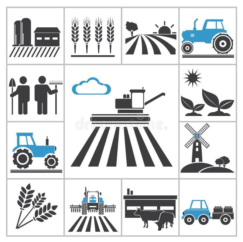 Iconos de la agricultura ilustración del vector