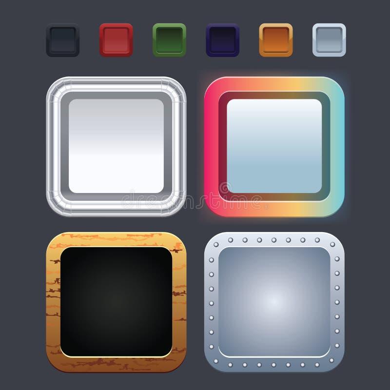 Iconos de la aplicación stock de ilustración