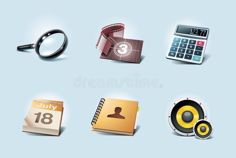 Iconos de la aplicación del vector. Parte 2 ilustración del vector