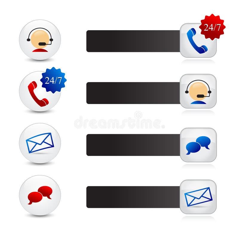 Iconos de la ayuda ilustración del vector
