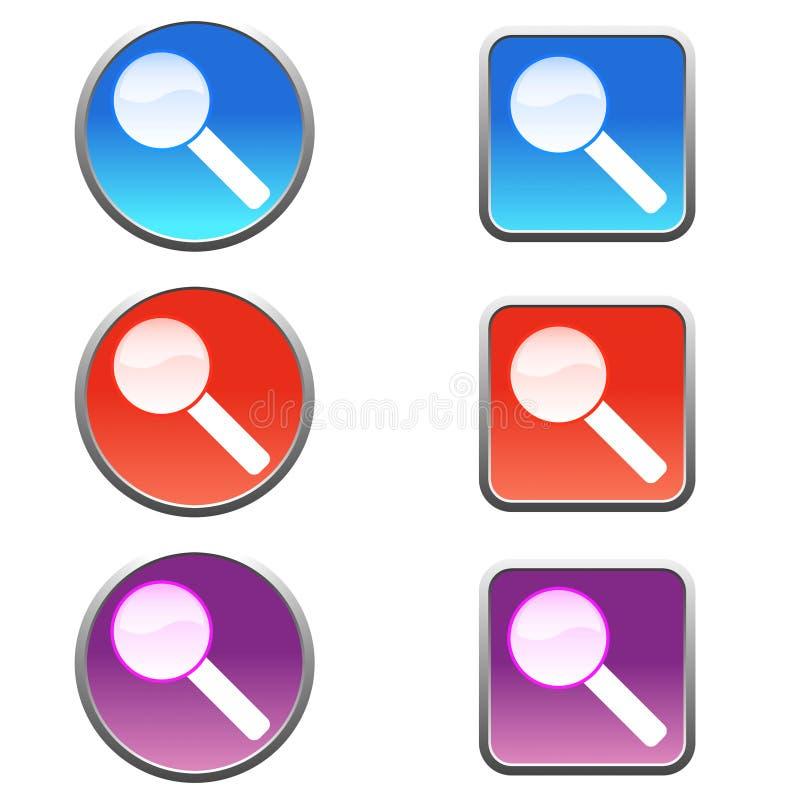 Iconos de la búsqueda ilustración del vector