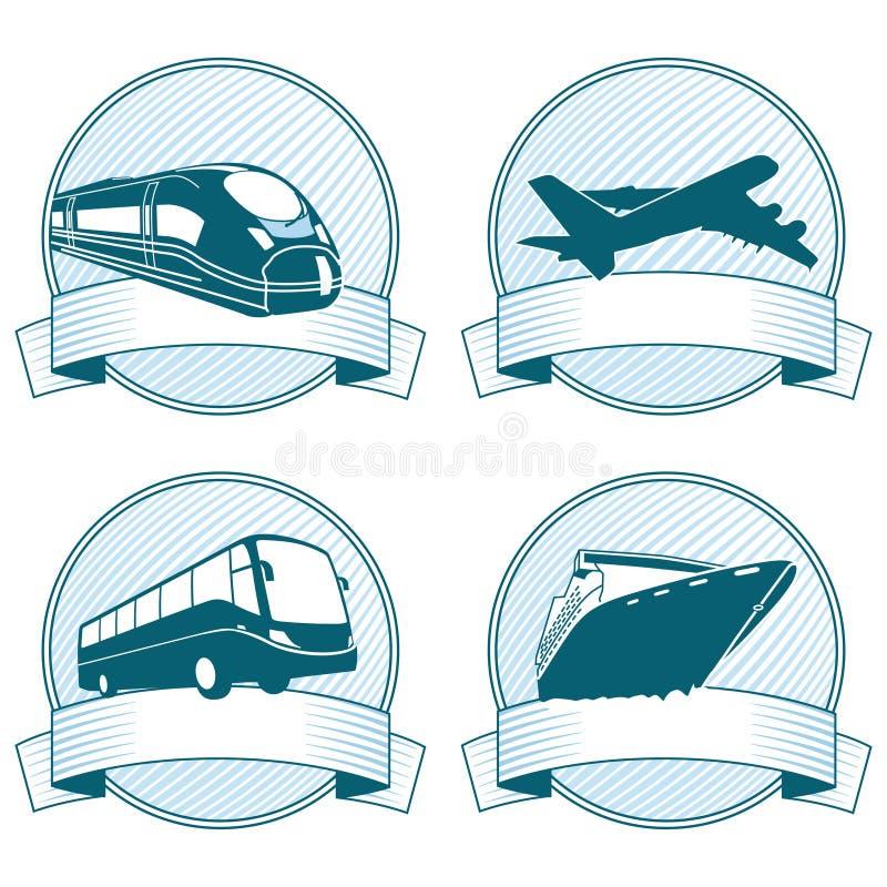 Iconos de la bandera del transporte libre illustration