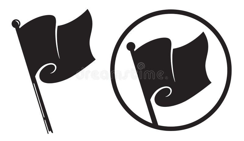 Iconos de la bandera negra libre illustration