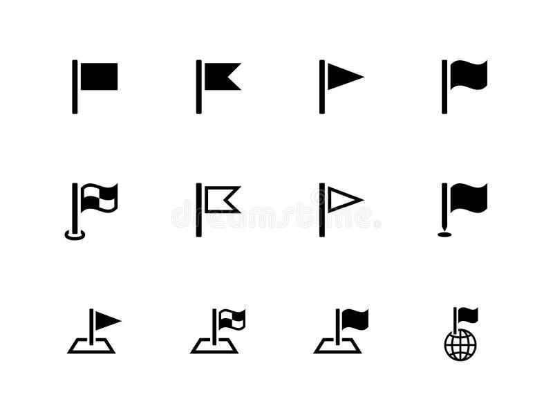 Iconos de la bandera para las presentaciones en el fondo blanco. libre illustration
