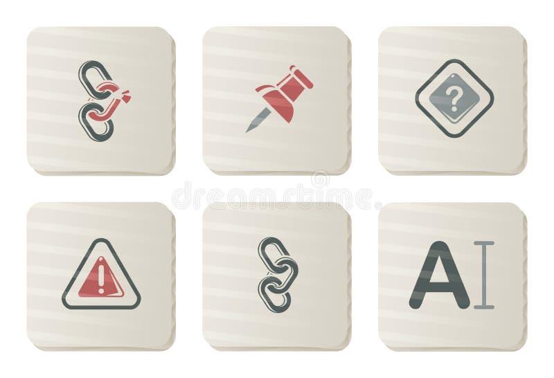 Iconos de la barra de herramientas y del interfaz | Serie de la cartulina stock de ilustración