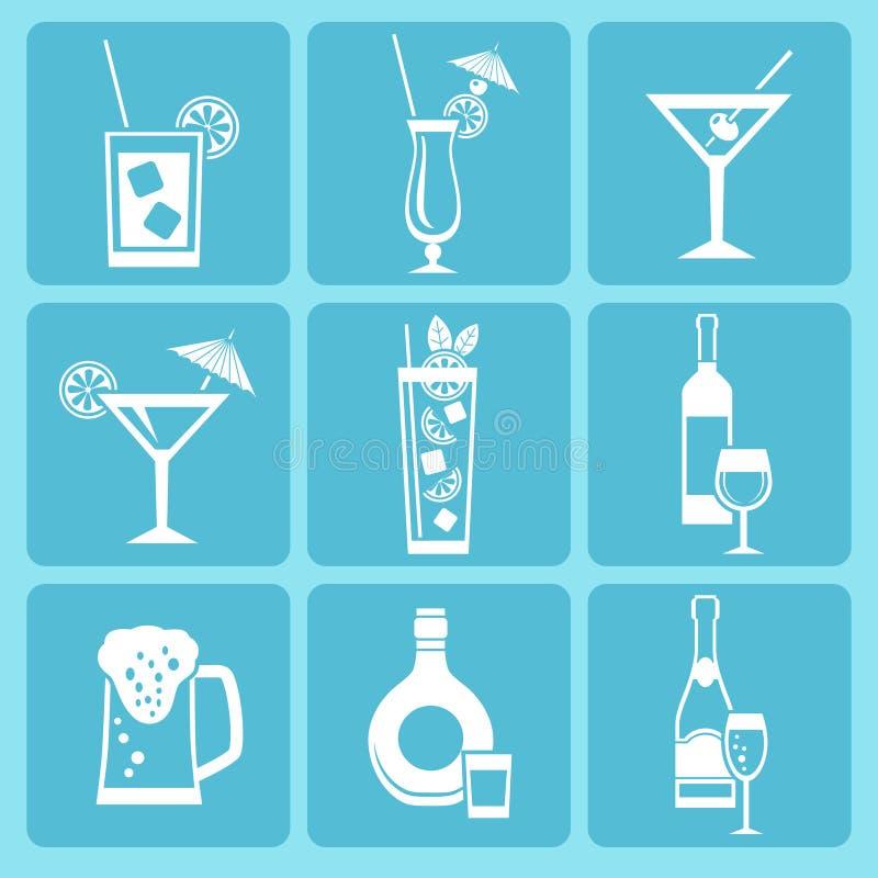 Iconos de la bebida libre illustration