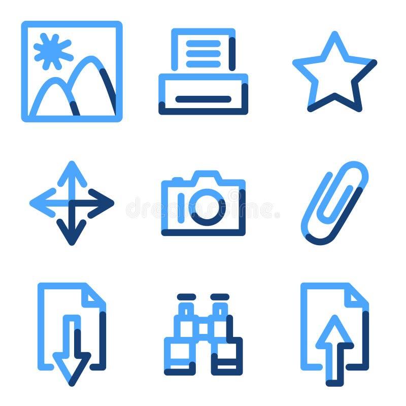 Iconos de la biblioteca de la imagen ilustración del vector