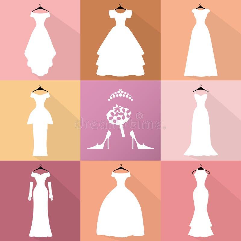 Iconos De La Boda Los Vestidos Siluetean El Sistema Moda Plana ...