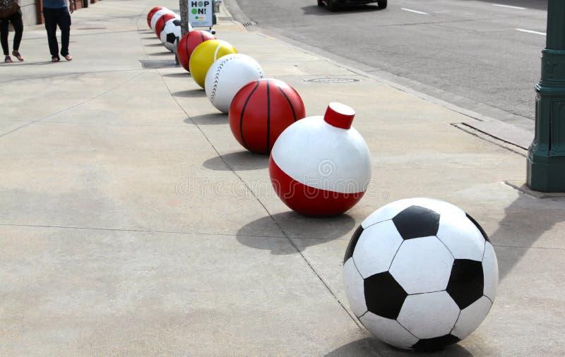 Iconos de la bola del deporte imagenes de archivo