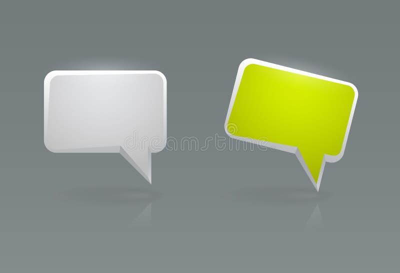 Iconos de la burbuja del discurso del vector ilustración del vector